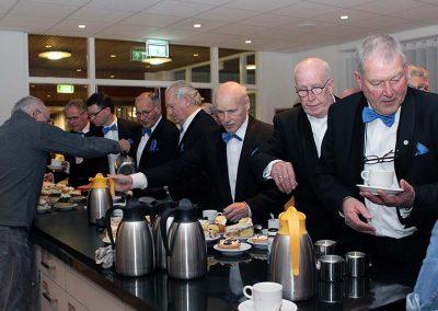 Koffie en gebak tijdens de Jaarvergadering 2020