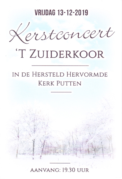 Kerstconcert Putten 13 december 2019