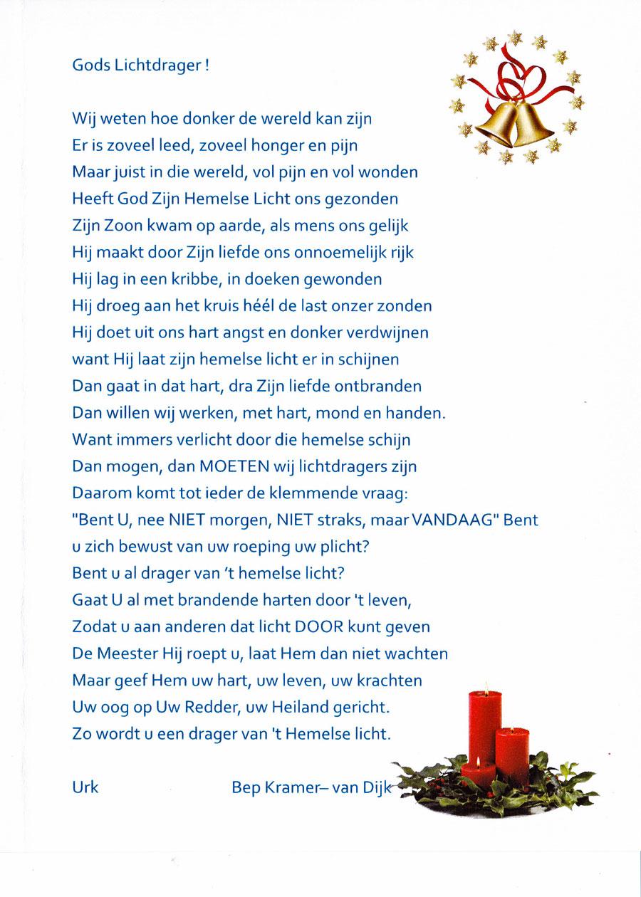 Gedicht van Bep Kramer